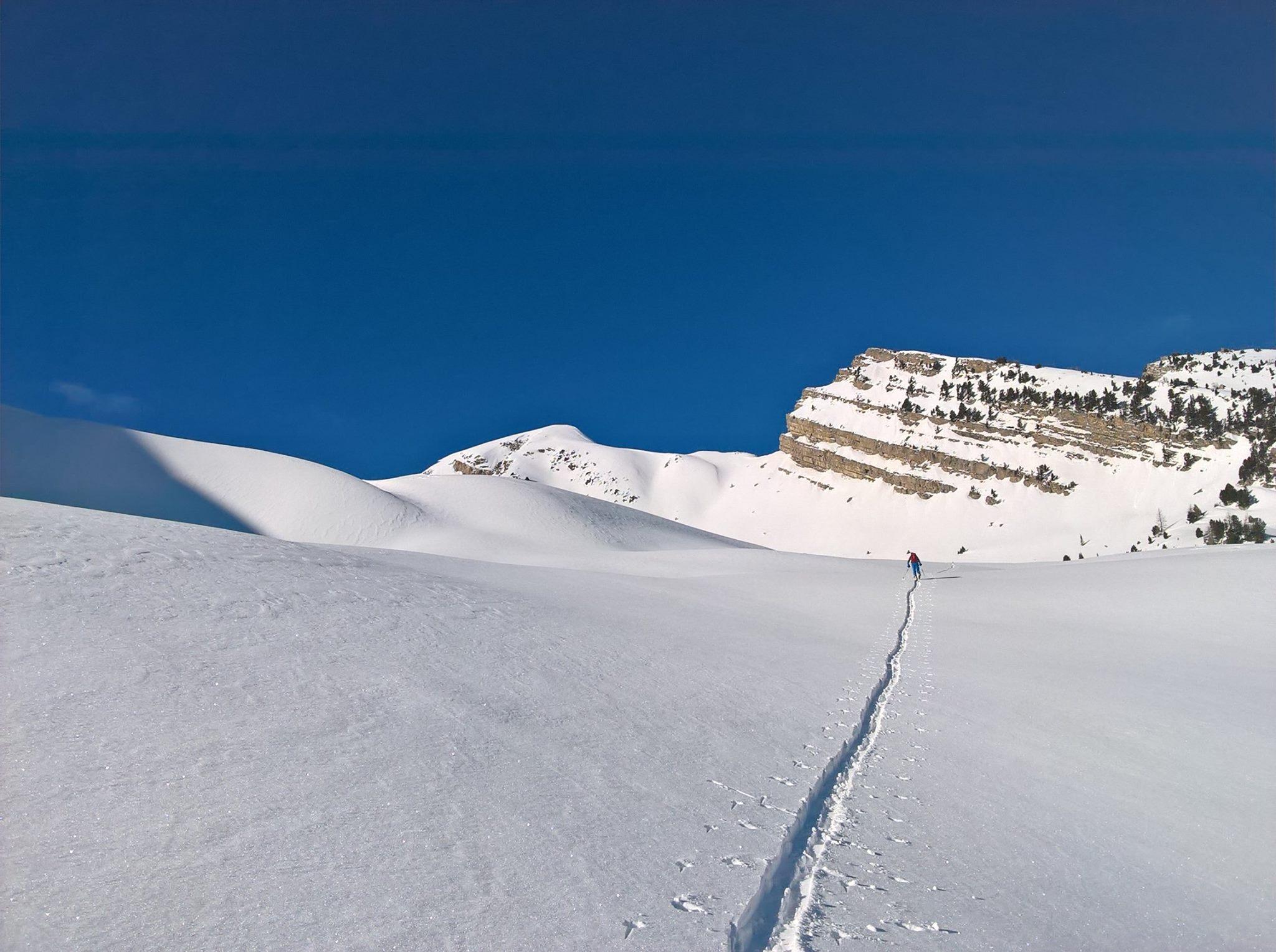 ski de randonnée en ubaye pres du gîte de méolans et de barcelonnette